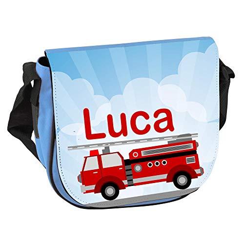 Elefantasie Kindergartentasche Umhängetasche mit Namen personalisiert blau Modell Feuerwehr