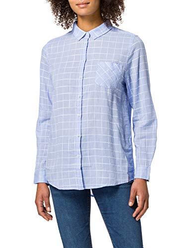 Springfield Blusa Estampada Camisa, Azul Medio, 44 para Mujer