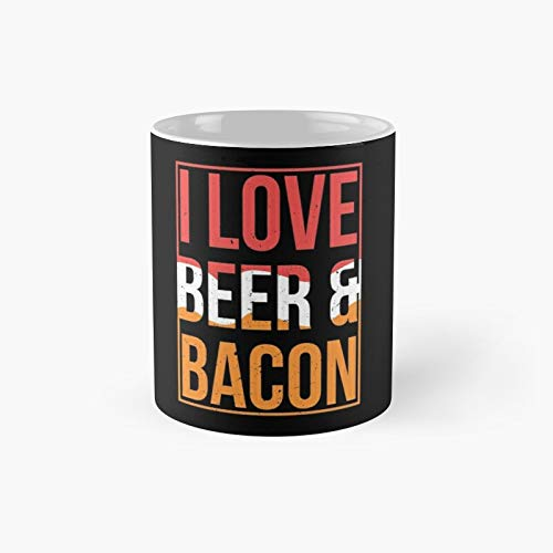 Bacon Beer Classic Mug | Best Gift Funny Coffee Mugs 11 Oz