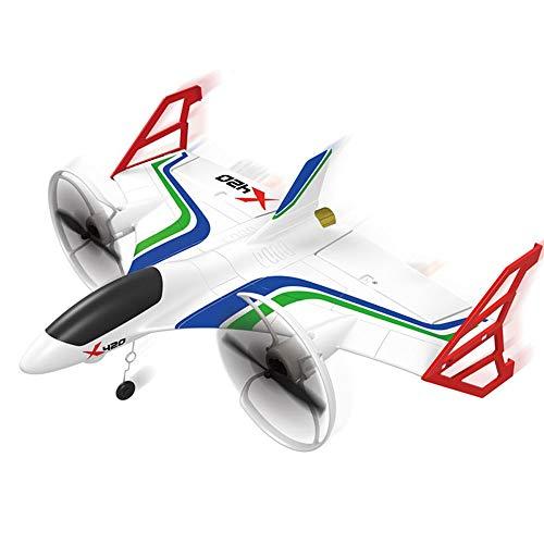 DBXMFZW Control remoto vertical de 6 canales Aviones de control remoto EPP Control remoto Glider 3D6G Stunt RC Airplane Indoor y al aire libre RC Regalos de aviones para niños y niñas Principiantes RT