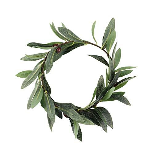 Minkissy Künstliche Olivenblatt Kranz Blatt Haarband Fee Blume Stirnband Haarschmuck für Dame Frau Mädchen