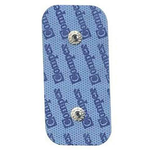 Compex Complex Dual Snap, Pack de 2 Electrodos Auto-adhesivos, 5 x 10 cm