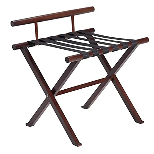 N/Z Home Equipment Luggage rack Hotel Luggage Rack Hotel Room Foldable Solid Wood Suitcase Holder Luggage Rack Shelving Suitcase Backpack