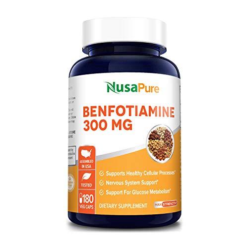 Benfotiamine 300mg 180 Veggie Caps ( Non-GMO,Vegan & Gluten-Free)...