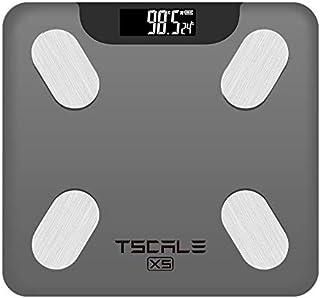 Báscula digital inteligente con app, Bascula digital con bluetooth para el análisis de grasa corporal, con multiusuarios i...