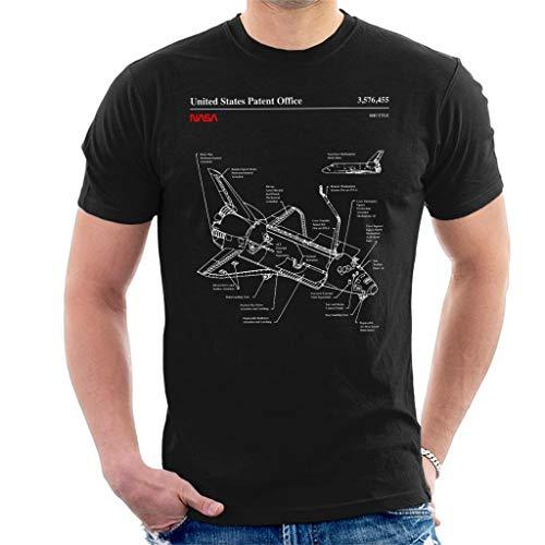 Nasa Space Shuttle Blueprint Men's T-Shirt