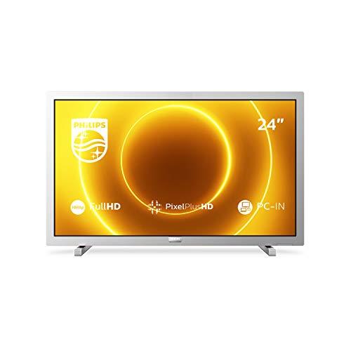 Philips TV 24PFS5525/12 24-Zoll-LED-Fernseher (Full HD, Pixel Plus HD, Full-Range-Lautsprecher, 2 x HDMI, VGA, USB) Mittelsilber [Modelljahr 2020]