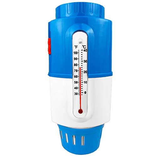 well2wellness Pool Dosierschwimmer Boje Chlordosierer inkl. Thermometer für 200g Chlortabletten