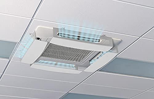 4 Deflettore condizionatore & Aria condizionata a cassetta Climik Quadro, kit da 4 deflettori in plastica