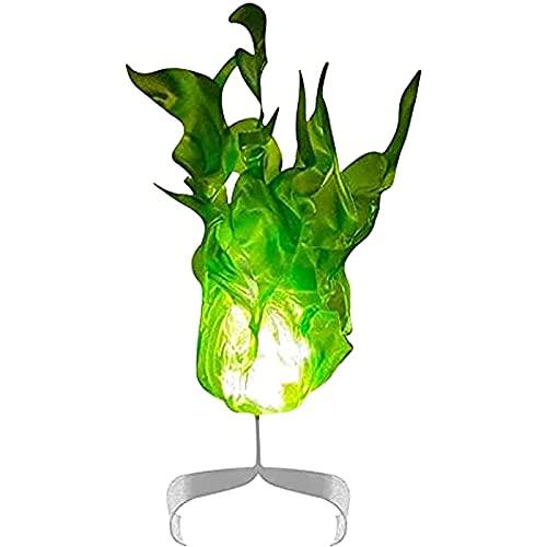 RJFYPX Los Accesorios flotantes de la Bola de Fuego, Que brillaron los Accesorios flotantes de la Bola de Fuego en la Mano, la decoración del Partido de Halloween,Verde