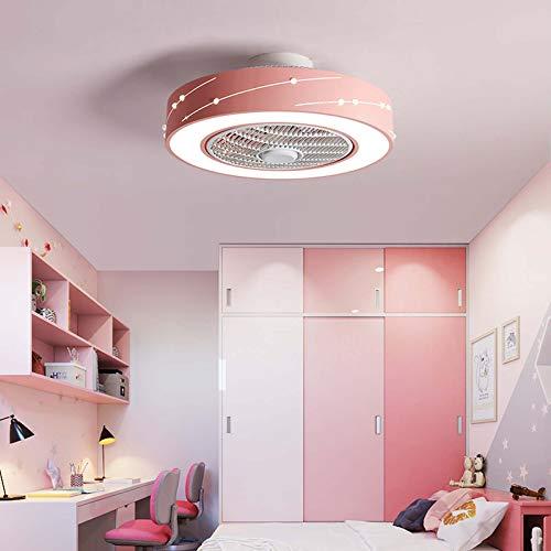 HHGM Ventilador LED Ventilador De Techo LED Luz De Techo con Control Remoto Silencioso Invisible Luz De Ventilador Lámpara De Dormitorio Sala De Estar Jardín De Infantes Habitación De Niños,B