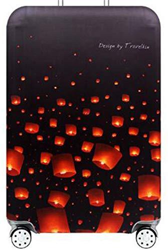 Hayisugar elastische Kofferschutzhülle Dicke Kofferhülle mit Reißverschluss Kofferüberzug Kofferschutz Kofferbezug Reisekofferabdeckung Koffer Cover Schutz, Laterne, L (25-28 Zoll)