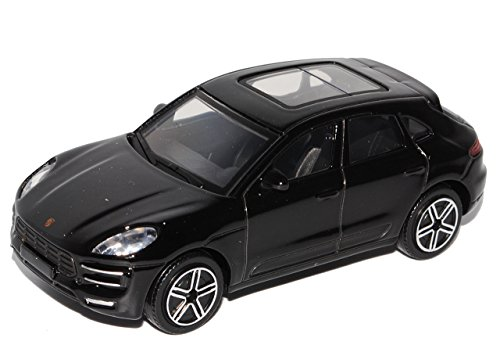 Bburago Porsche Macan Turbo Schwarz Ab 2014 1/43 Modell Auto mit individiuellem Wunschkennzeichen