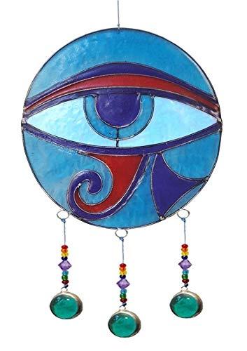 Saraswati Suncatcher All Sehendes Auge Resin Mehrfarbig 15x35cm