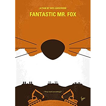 Amazon Com Imagekind Wall Art Print Entitled No673 My Fantastic Mr Fox Minimal Movie Poster By Chungkong Art 11 X 15 Posters Prints