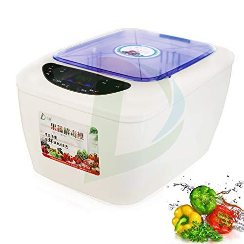 KOUQI Intelligente Gemüsewaschmaschine Maschine, Meeresfrüchte Reinigungsmaschine, Automatisches Ultraschall-Reinigungsgerät, LED Intelligent Control Panel, Für Die Reinigung Und Trockengemüse