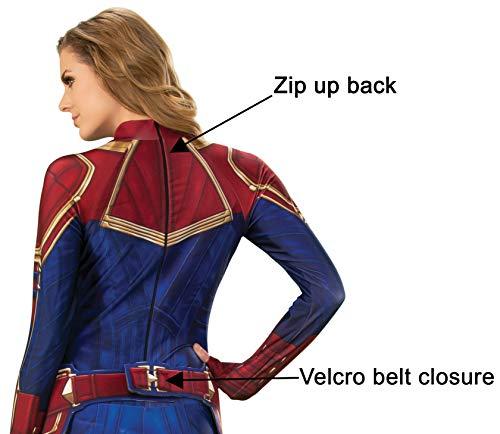 Rubies - Disfraz Oficial del Capitán Marvel Hero para Mujer ...