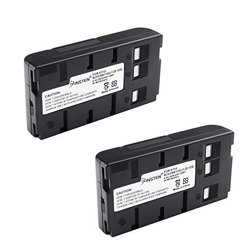 2 Pcs BN-V11U Insten Rechargeable Camcorder Battery High Capacity for JVC BN-V10U, BN-V11U, BN-V12U, BN-V14U, BN-V15, BN-V18U, BN-V22U, BN-V24U, BN-V25U PANASONIC PV-BP15 PV-BP17 Digital Camera