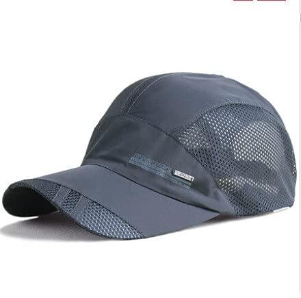Sombrero para Mujer, Deportes al Aire Libre, Sombrero de Secado rápido, Protector Solar, Gorra de béisbol para Hombres y Mujeres, Sombrero para el Sol de Verano Puro para Unisex-Dark Gray