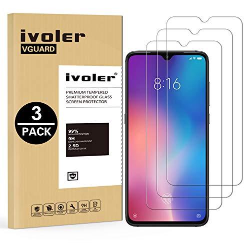 VGUARD [3 Unidades] Protector de Pantalla para Xiaomi Mi 9 SE, Cristal Vidrio Templado Premium para Xiaomi Mi 9 SE
