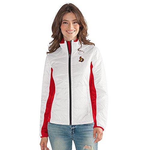 G-III Sports Damen Full Zip Jacket Grand Slam Jacke mit durchgehendem Reißverschluss, Weiß, Large
