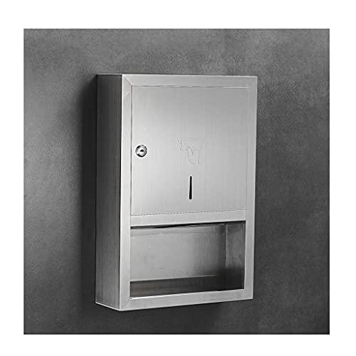 ZZTWER Paper Napkin Dispensers Distributore di Asciugamani da Parete Quadrato A Parete, Distributore di Asciugamani in Acciaio Inox, per Distributore di Tessuti Carta Igienica in Albergo Commerciale