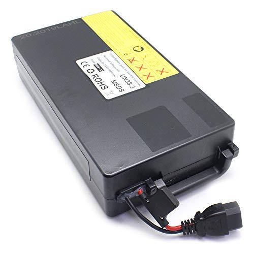 Batería Interna para Scooter Eléctrica Citycoco 60V/15Ah (60V, 15Ah, Litio, Interna Extraíble, Compatible con los Modelos Gran Scooter) - Negro