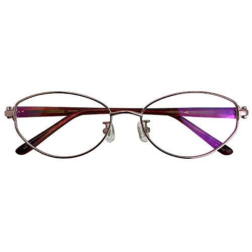 SHOWA 遠近両用メガネ アマレット (ピンク×レッド) (レディースセット) 全額返金保証 境目のない 遠近両用 眼鏡 老眼鏡 おしゃれ レディース 女性 リーディンググラス (瞳孔間距離:女性平均60mm〜62mm, 近くを見る度数:+1.0)
