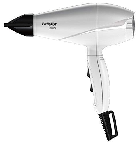BaByliss Secador Le Pro Light Blanco - Secador de pelo más ligero, con motor AC, 2000 W, 6 velocidades/temperaturas, posición de aire frío, color blanco
