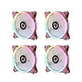 Tewerfitisme SYNC - Ventilador RGB (120 mm, 5 V, 3 pines, direccionable, para ventiladores de CPU, ultrasilencioso), color rosa