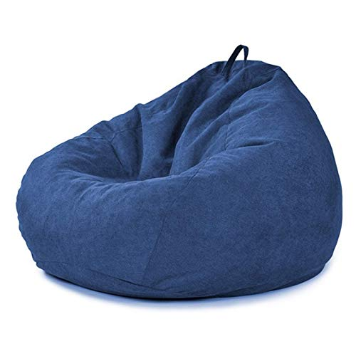 JSONA Christmas Adult Lounger Couchbezug, Einsitz Sofa Sitzsack Stuhlbezug für Gaming Chair Garden Chair, mit abnehmbarem und waschbarem Innenbeutel, ohne Füllstoff, 120X120cm, dunkelblau