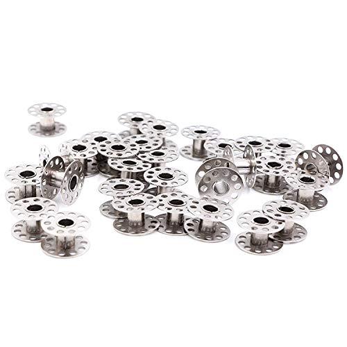 Novsix Lot de 30 bobines métalliques pour machine à coudre 20 x 10 mm Accessoires génériques pour machines à coudre Brother Janome, Singer, Bernina, Toyota, Anime, Kenmore, Elna, etc.