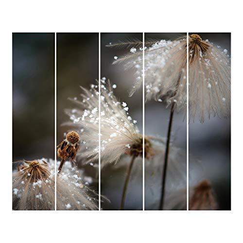 Bilderwelten Tende scorrevoli Interni Tarassaco con Fiocchi di Neve Senza Supporto 250x300 cm