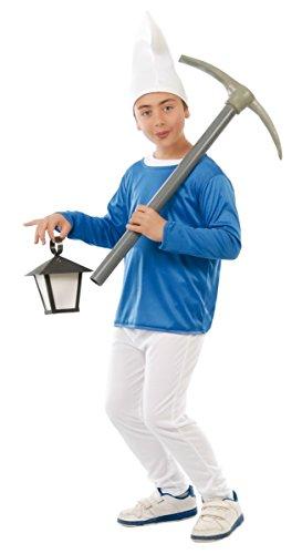Costume vestito Puffo carnevale bambino taglia 3-4 anni