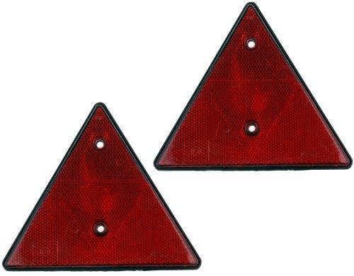 WAMO Dreieck Rückstrahler Anhängerrückstrahler Set 2 Stück
