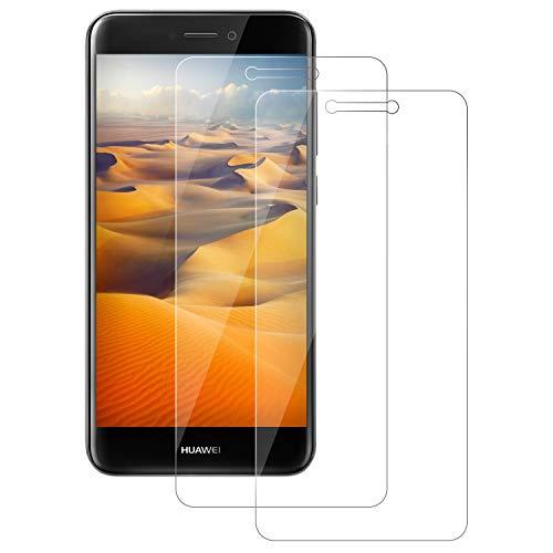 Snnisttek Protector de Pantalla para Huawei P8 Lite 2017, [2 Piezas] Huawei P8 Lite 2017 Cristal Templado, Premium [Anti-ralladuras] [Anti-Burbujas] [Fácil Instalación] [Alta Definicion]