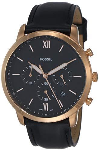 Fossil Reloj Cronógrafo para Hombre de Cuarzo con Correa en Cuero FS5