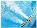 Whirlpool Badewanne Paris MADE IN GERMANY mit 8 Massage Düsen + LED Unterwasser Beleuchtung / Licht + Balboa + OHNE Armaturen runde Eckbadewanne - 6