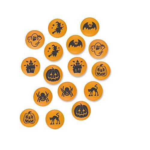 Günthart Rondelle   Halloween   Tortendeko   Muffindeko   Halloween-Deko aus Zucker   essbar   24x2g