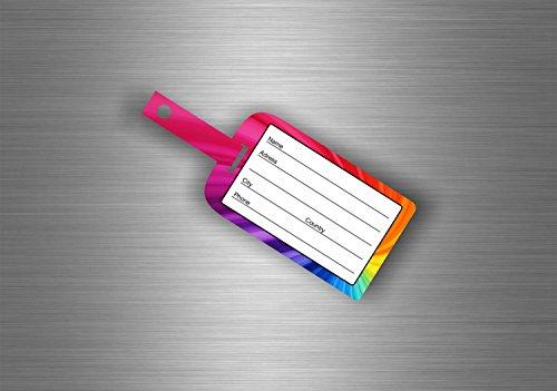 Akachafactory Selbstklebend Wandtattoo Etikett Koffer Gepäck Flugzeug Zug Reise–Rainbow