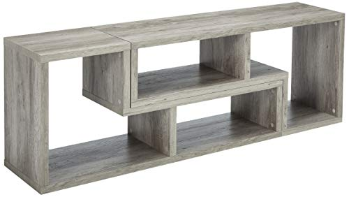 Coaster Home Furnishings Coaster Contemporary Grey Driftwood Convertible Bookcase TV Stand