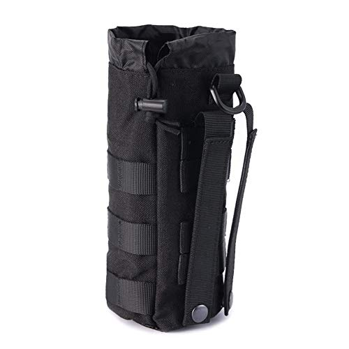 Upgraded Tactical Drawstring Molle Water Bottle Holder Tactical Pouches (Only Pouch)