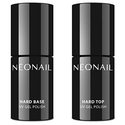 NeoNail UV Nagellack Set 7,2ml Hard BASE + Hard TOP + Werbegeschenke