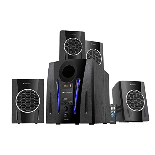 Zebronics Zeb-BT2750RUF Multimedia Speakers with Bluetooth connectivity,LED Display,FM and AUX.