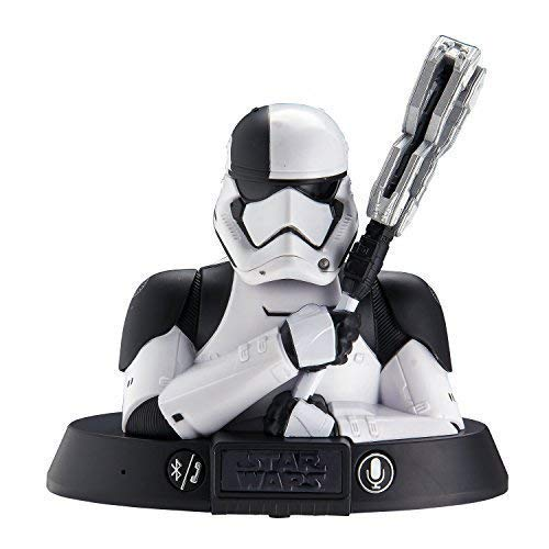 Star Wars Stormtrooper Altavoz Bluetooth con activación de voz por altavoz, compatible con iPhone, Samsung, tabletas y todos los demás dispositivos bluetooth.
