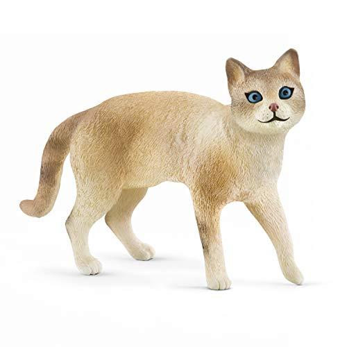 Schleich - Figura de Gato Europeo Siamois Farm World, 13932, Multicolor