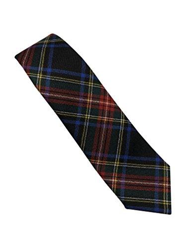 Stewart Cravate Motif tartan Noir