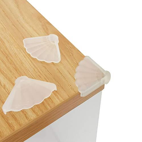 Eckenschützer Kantenschutz Baby, Kantenschutz Transparent für Babys, bester hochbeständiger Möbelkantenschutz, Baby-Sicherheitsgummikissenbezug, Kunststoffbezüge (12 Stück)