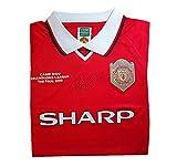 Camiseta de la final de la Copa de Europa del Manchester United de 1999, firmada a mano por Ryan Giggs – recuerdo del club de fútbol del Manchester United de la MUFC
