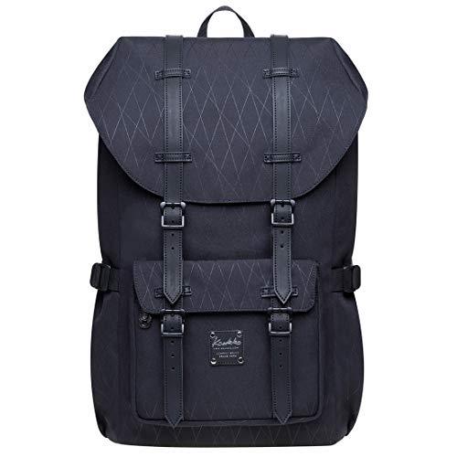 KAUKKO Rucksack Damen Herren Schön und Durchdacht Daypack mit Laptopfach für 14 Zoll Notebook für Schule, Uni,19L